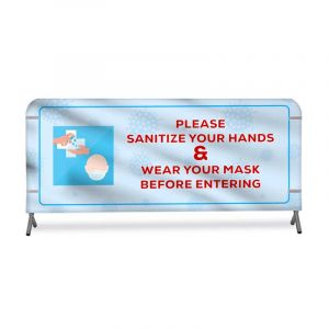 Barricade Skinz™ - COVID-19 Awareness Grocery Store Barrier Cover