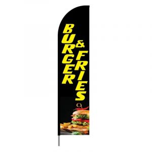 Burgers, Fries & Sandwiches Flag- Feather Banner