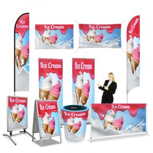 Ice Cream Store Banner Signs & Flags