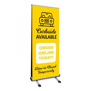 Curbside Pickup Retractable Banner Stand